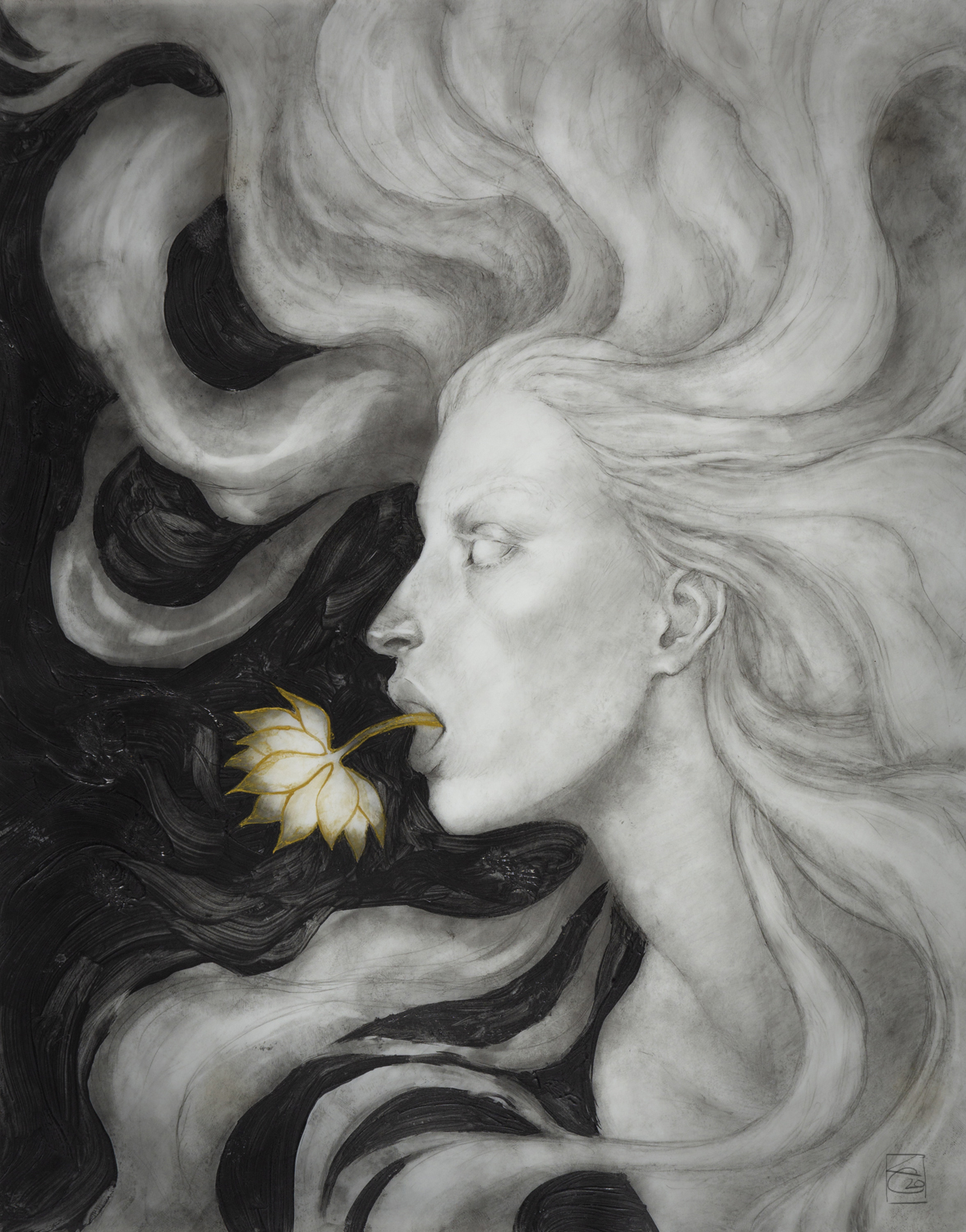 Flowers I imagine to be her voice #4 Artwork by Ken Cunnningham