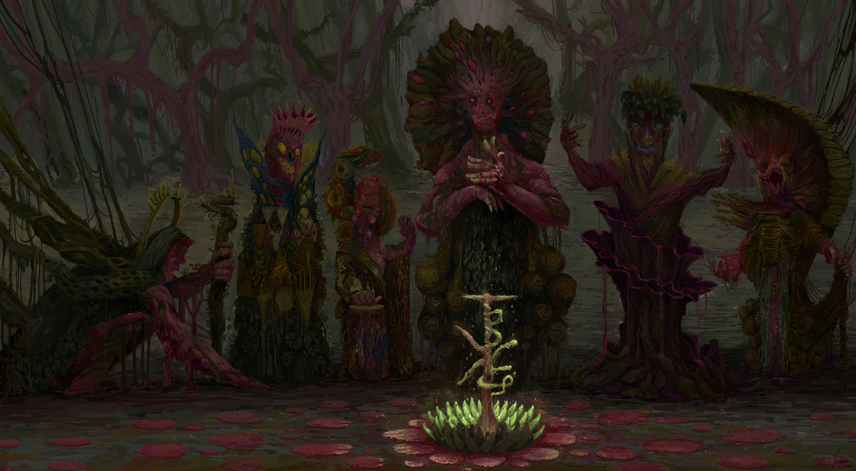 The Six Tyrant Kings of the Bramble for Dysparea -  A Shattered World Artwork by Jonathan  Fernandes Juanieve