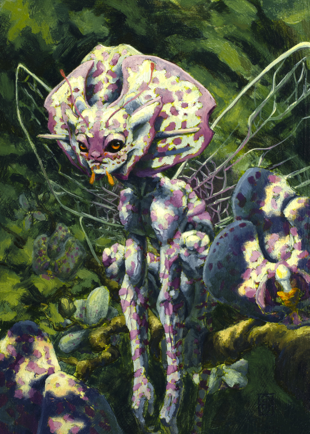 Orchid Fairy 3 Artwork by Corban Hubler