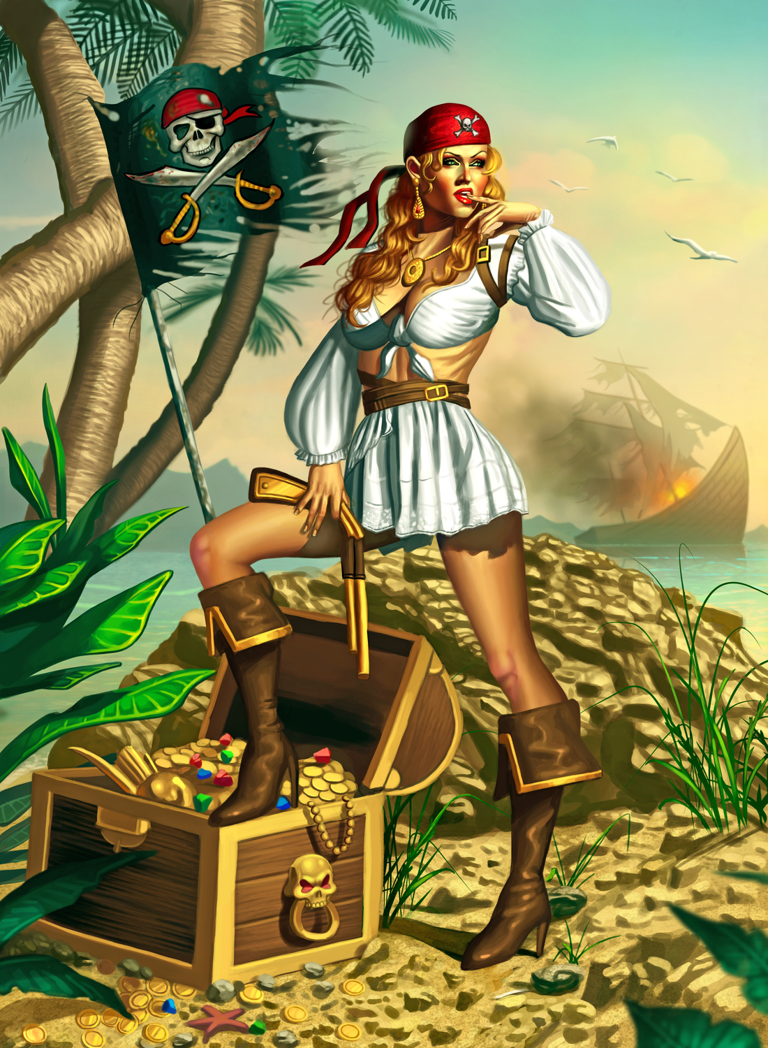 Pirate Girl Artwork by George Patsouras