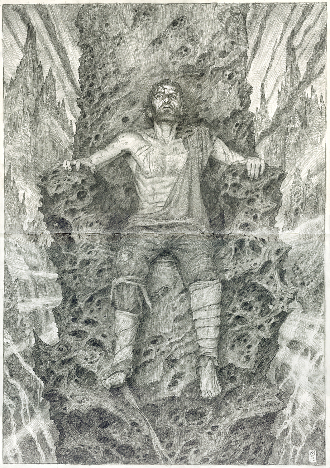 Hurin Imprisoned by Morgoth Artwork by Matthew Stewart