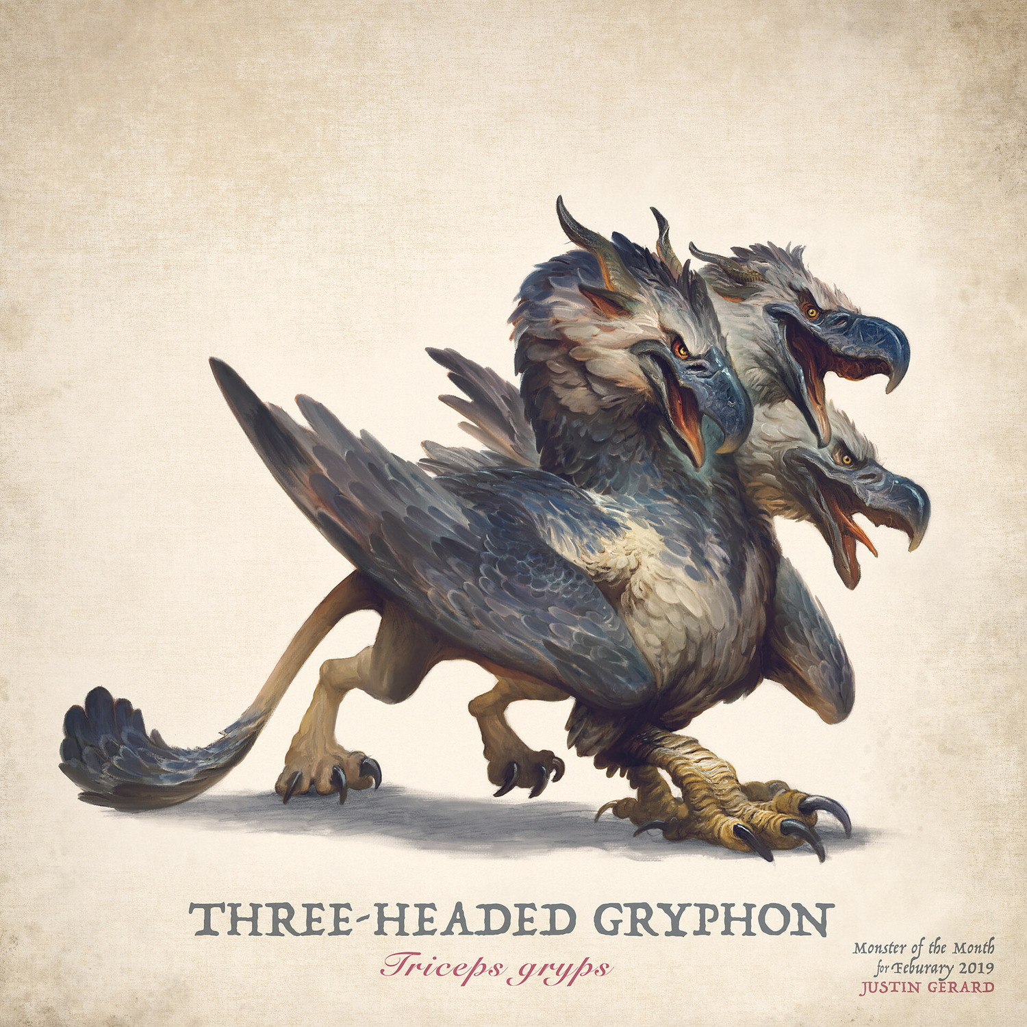 The Three-Headed Gryphon  Artwork by Justin Gerard