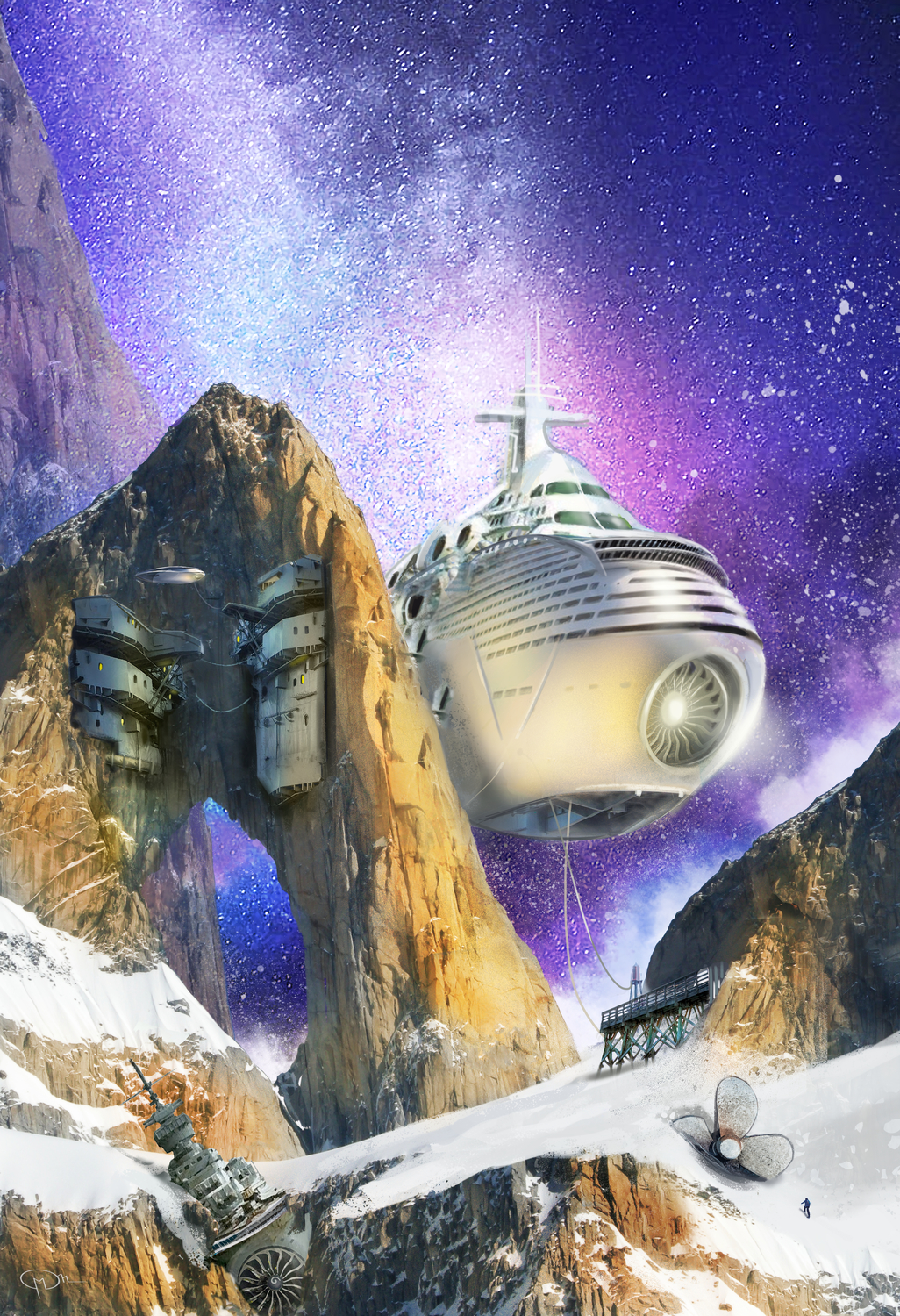 The 2020 Look at Space Opera Book Artwork by Maurizio Manzieri