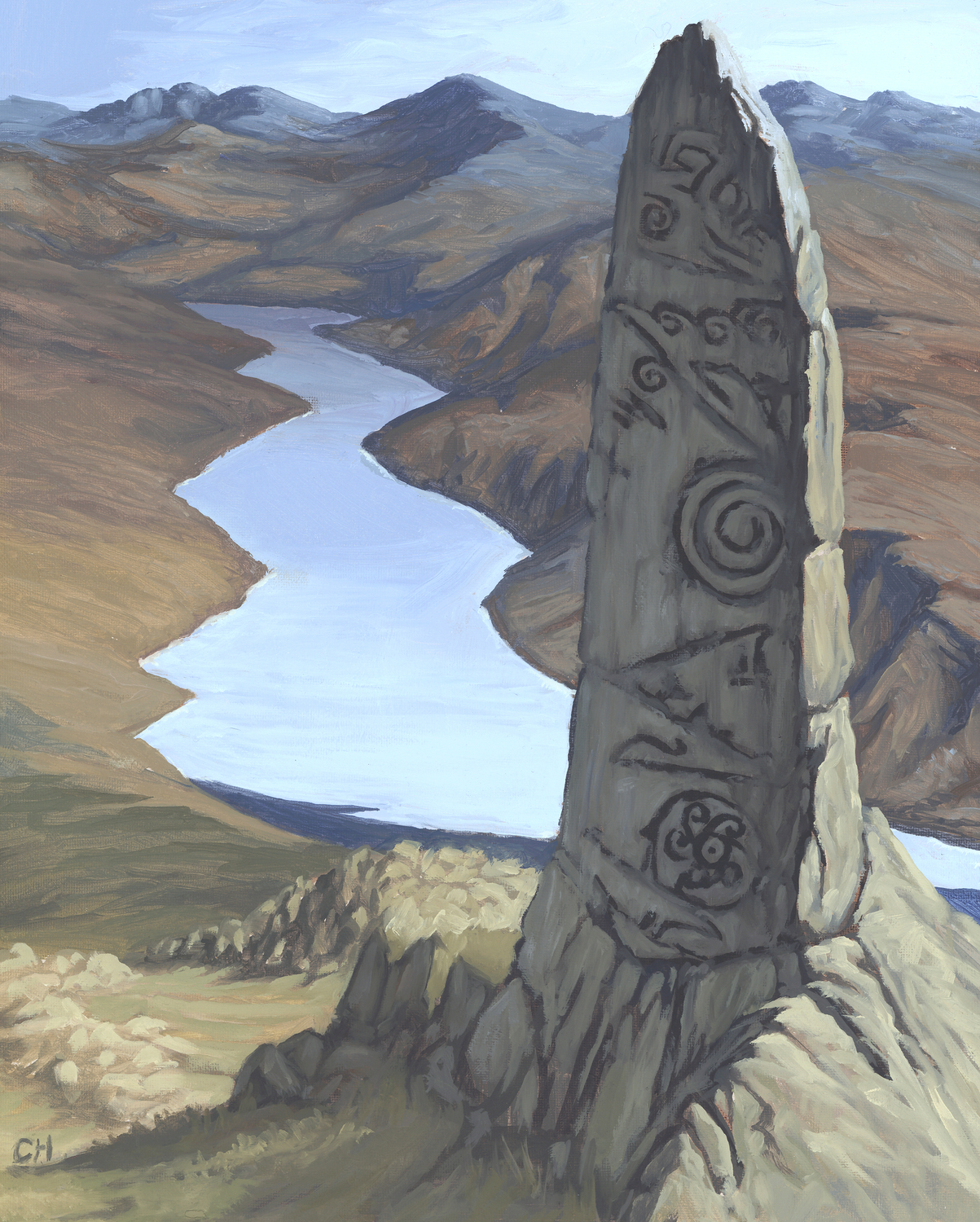 The Standing Stone Artwork by Candra Hope