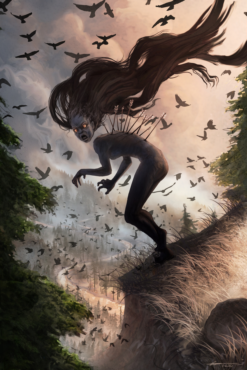 The Wild Wood Witch Artwork by ethan  harris