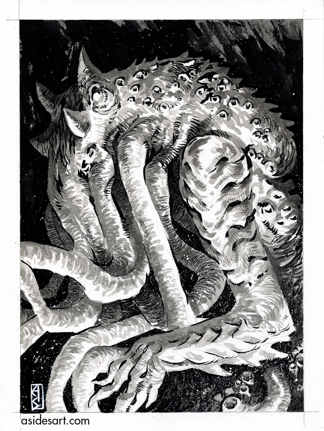 Cthulhu Artwork by Andrew Sides