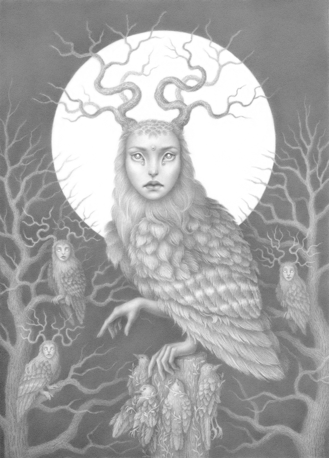 Daughters of the night sky Artwork by Marta Witkiewicz