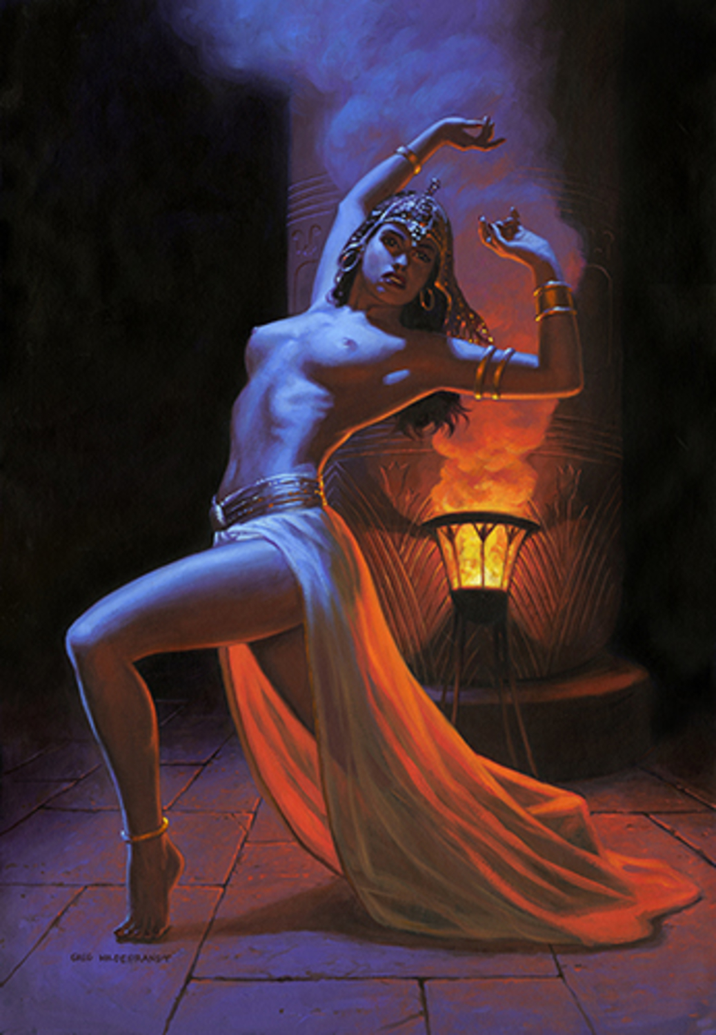 Bettie Page Princess of the Nile Artwork by Greg Hildebrandt